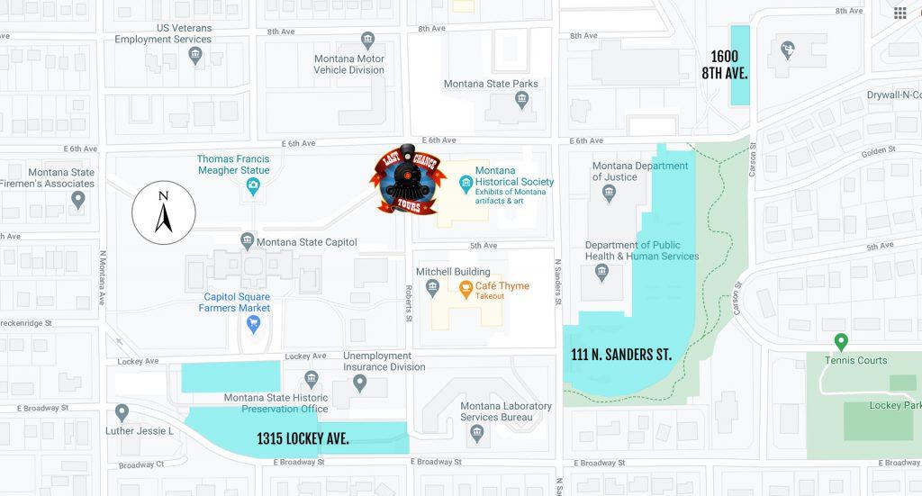 Helena Capital Complex Parking Map
